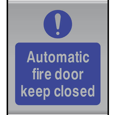Automatic fire door keep closed (Slatz)
