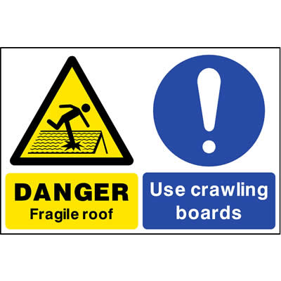 Fragile roof - Use crawling boards
