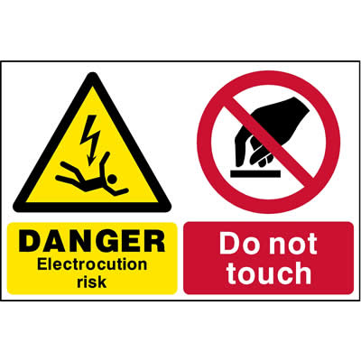 Electrocution risk - Do not touch