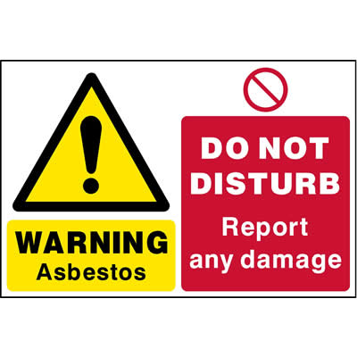 Asbestos - Do not disturb report any damage