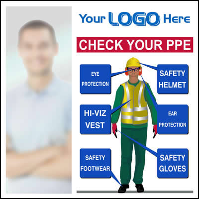 Check your PPE sign