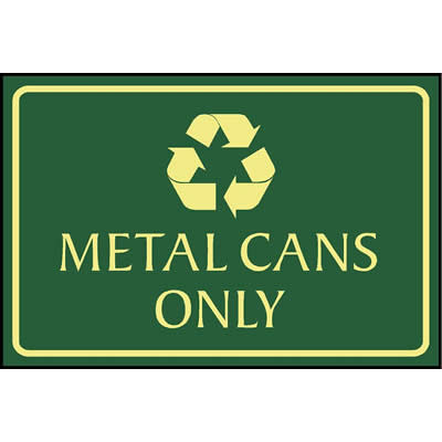 Metal cans only