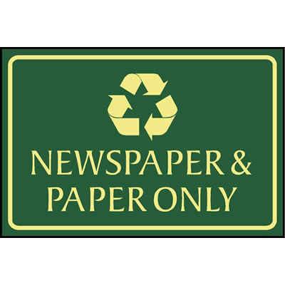 Newspapers & paper only
