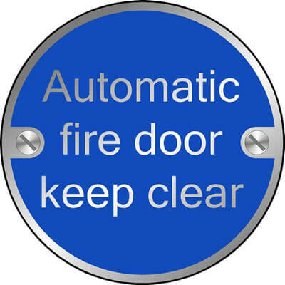 Automatic fire door keep clear (Disc)