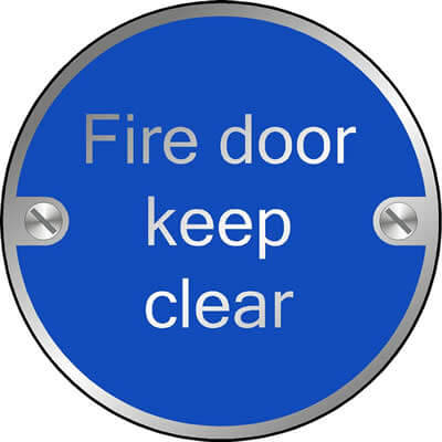 Fire door keep clear (Disc)