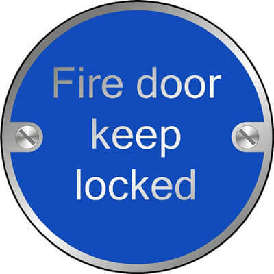 Fire door keep locked (Disc)