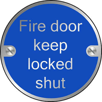 Fire door keep locked shut (Disc)