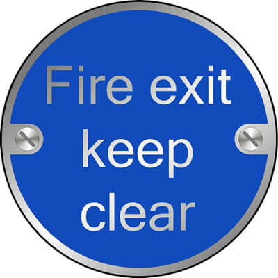 Fire exit keep clear (Disc)