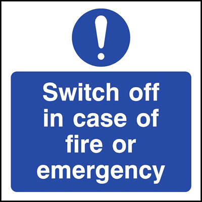 Switch Off In Case Of Fire Or Emergency Symbol