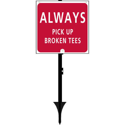 Fairway Pro - Always pick up broken tees