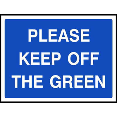 Please keep off the green