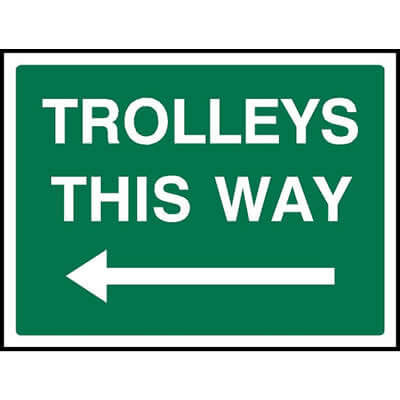 Trolleys this way (Left)