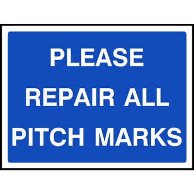 Please repair all pitch marks