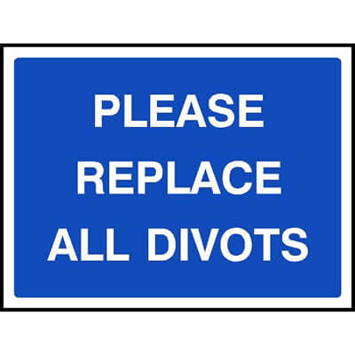 Please replace all divots