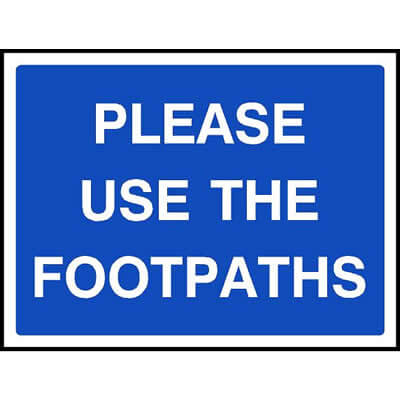 Please use the footpaths