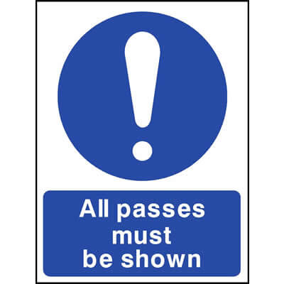 All passes must be shown