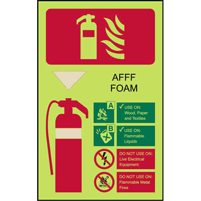 Extinguisher Code - AFFF Foam (Luminous)