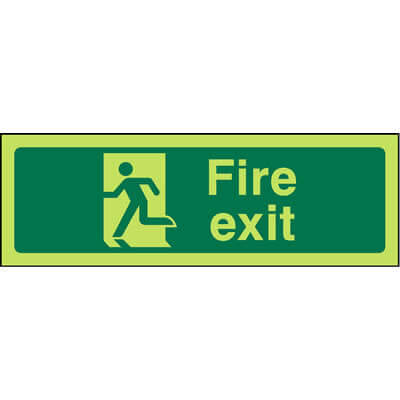 Fire Exit (Left Facing - Luminous)
