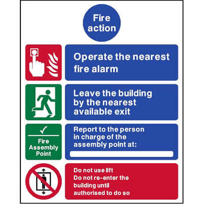 Fire action - Operate the nearest...