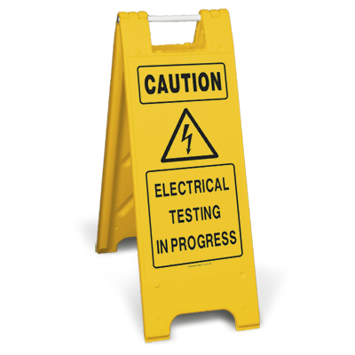 Caution - Electrical testing in progress (Minicade)