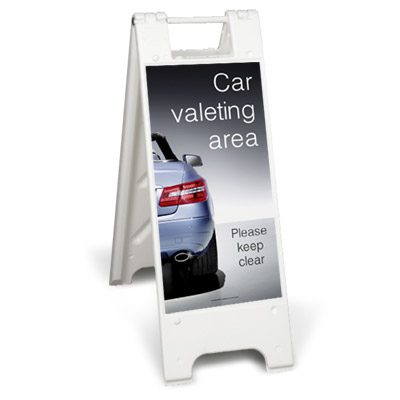 Car valeting area - Please keep clear (Minicade)