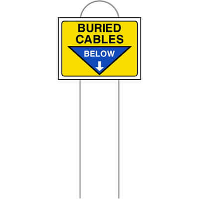 Buried cables below (Mark-em)