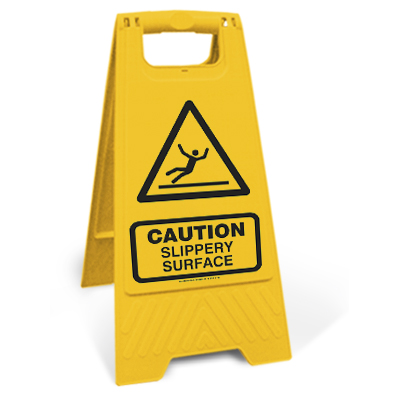 Caution - Slippery surface (Motspur)