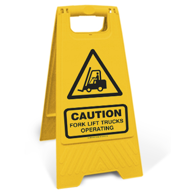Caution - Fork lift trucks operating (Motspur)