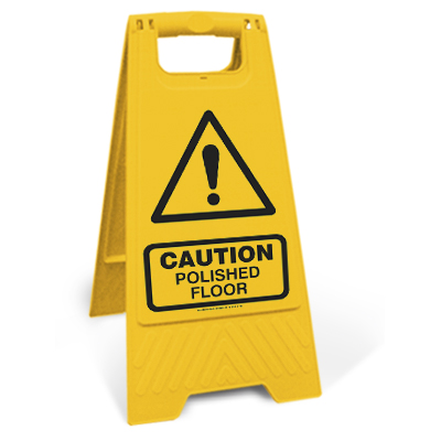 Caution - Polished floor (Motspur)