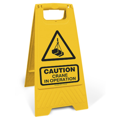 Caution - Crane in operation (Motspur)