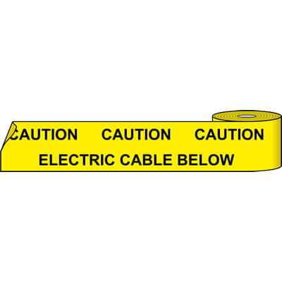 Electric cable below (Service Marker Tape)