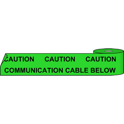Communication cable below (Service Marker Tape)
