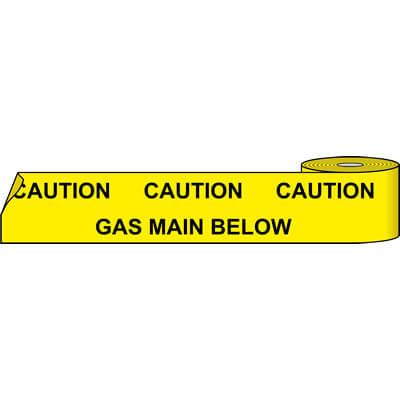 Gas main below (Service Marker Tape)