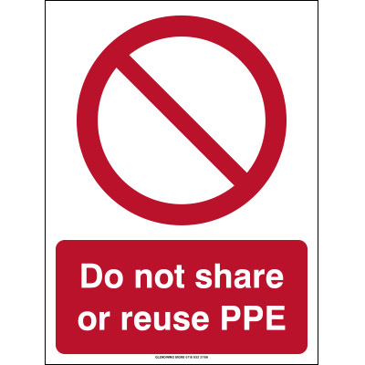 do not reuse ppe sign