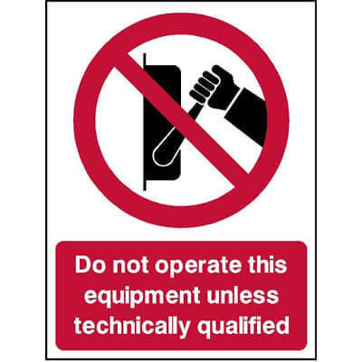 Do not operate this equipment unless...