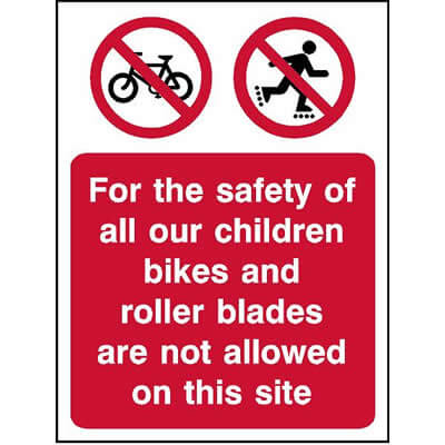 Bikes and roller blades are not allowed on this site
