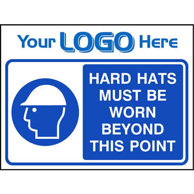 Hard hats must be worn beyond this point (Quickfit)