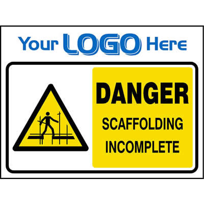 Danger - Scaffolding incomplete (Euro)