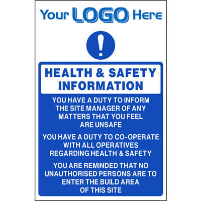 Health & Safety Information Sign