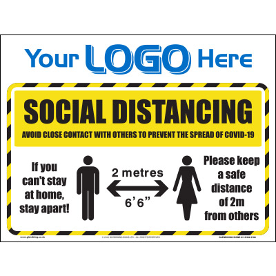 2m Social distancing sign (Quickfit)
