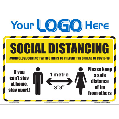 1m Social Distancing Sign (Quickfit)