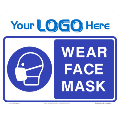 Wear face mask sign (Quickfit)