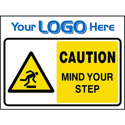 Caution mind your step sign