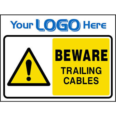 Beware trailing cables sign
