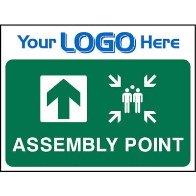 Assembly point ahead sign