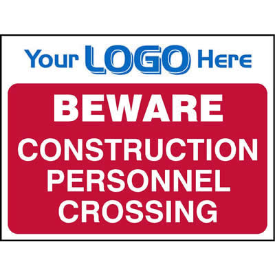 Beware - Construction personnel crossing (Quickfit)
