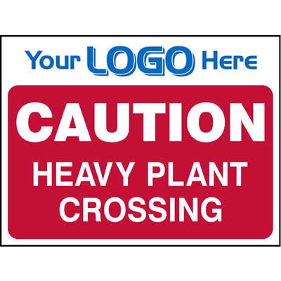 Caution - Heavy plant crossing (Quickfit)