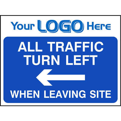 All traffic turn left when leaving site (Quickfit)