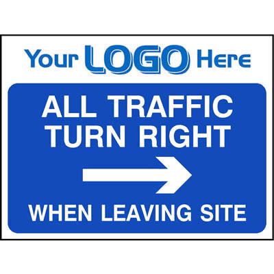 All traffic turn right when leaving site (Quickfit)