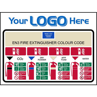 EN3 Fire Extinguisher Colour Code (Quickfit)